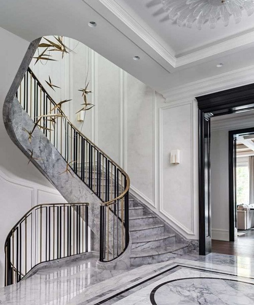 Rénovation et ponçage escalier en marbre Monaco